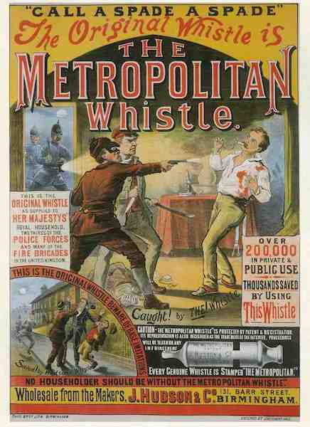 Poster Sifflet Police Acme Metropolitain Whistle
